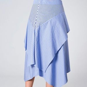 Maje 34 XS ASYMMETRICAL SKIRT